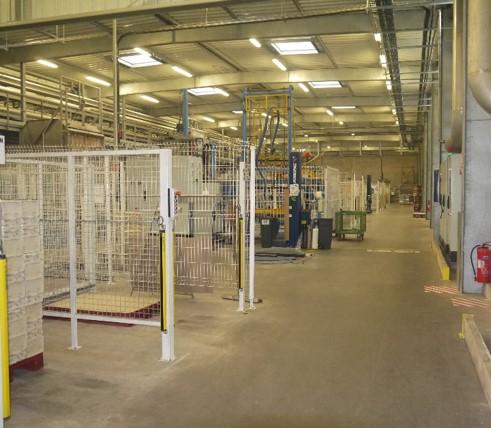 intérieur usine ecofeutre cellulose moulée