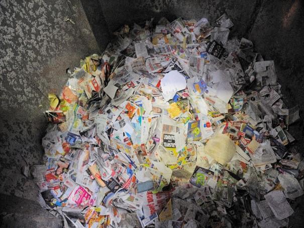 Recyclage de journaux pour cellulose moulée ECOFEUTRE
