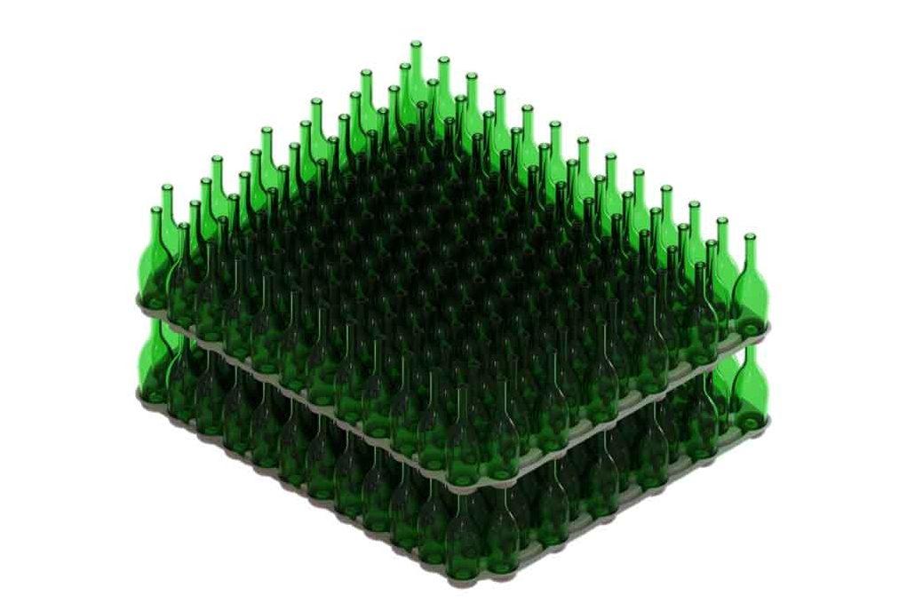 Calage bouteilles en verre