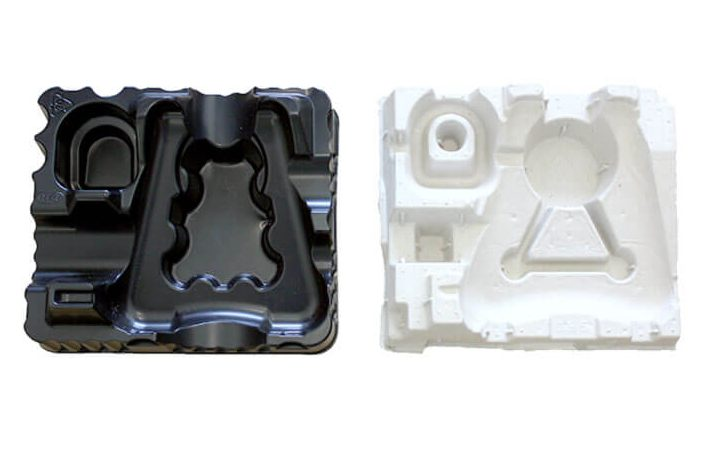 Comparaison de 2 solutions de calage noire et blanche ECOFEUTRE