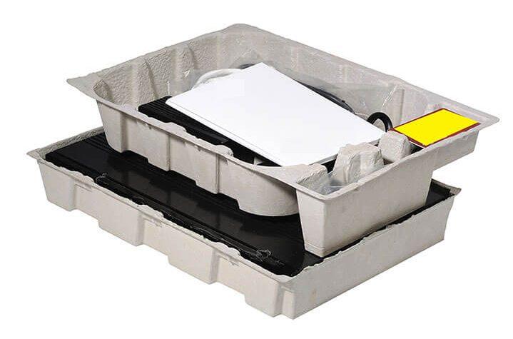 Emballage en cellulose moulée pour appareil de télécommunication