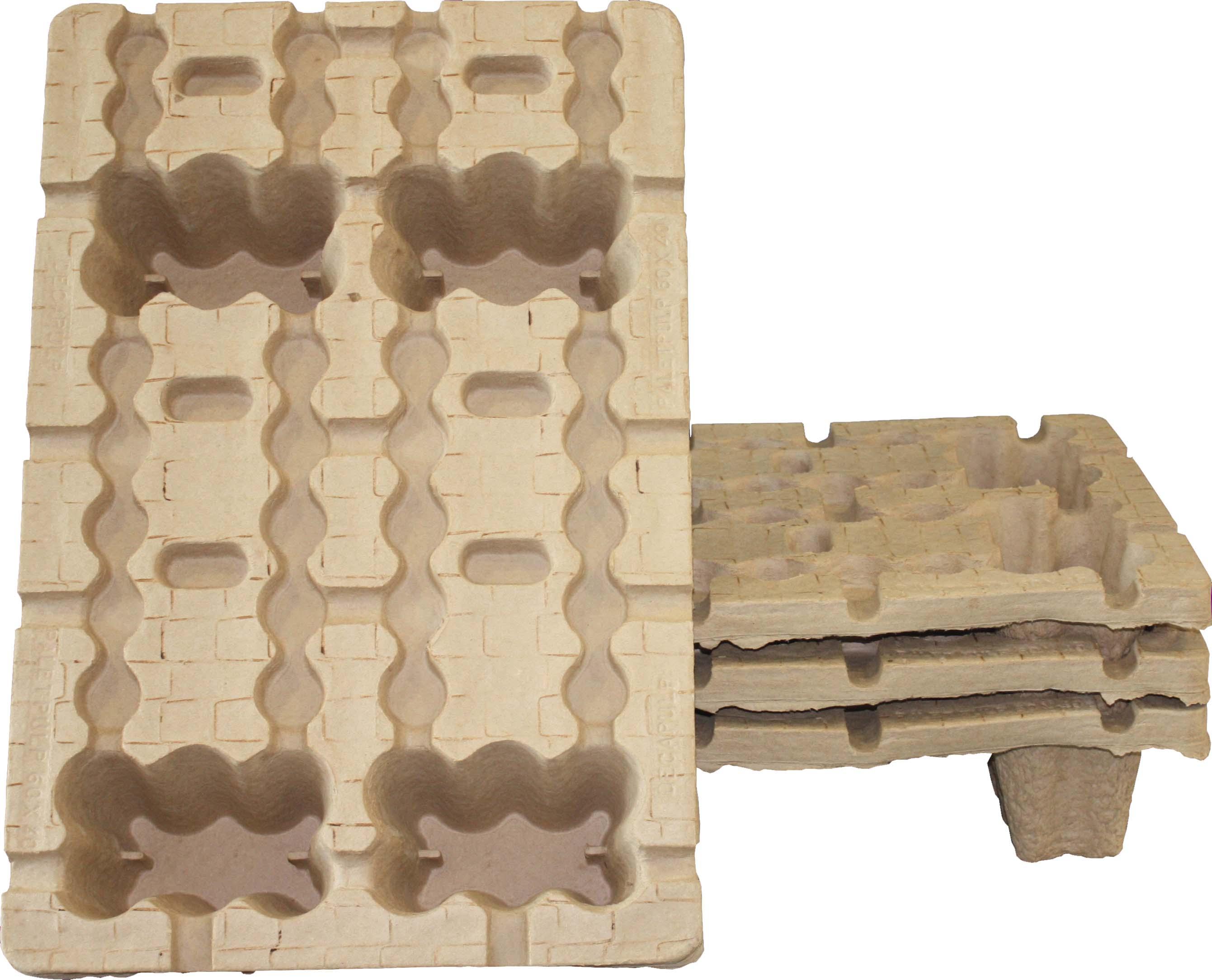 Fabrication de palettes en cellulose moulée ecofeutre