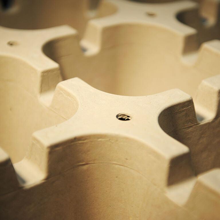 calage cellulose moulée haute densité ecofeutre