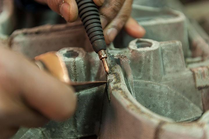 Fabrication des moules pour la production