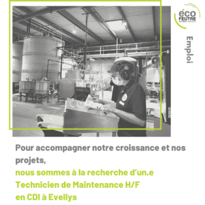 recrutement écofeutre supply chain grossiste revendeur bol a salade bol cellulose moulée moulded fiber bambou calage industriel barquette alimentaire écologique naizin le sourn pontivy 56
